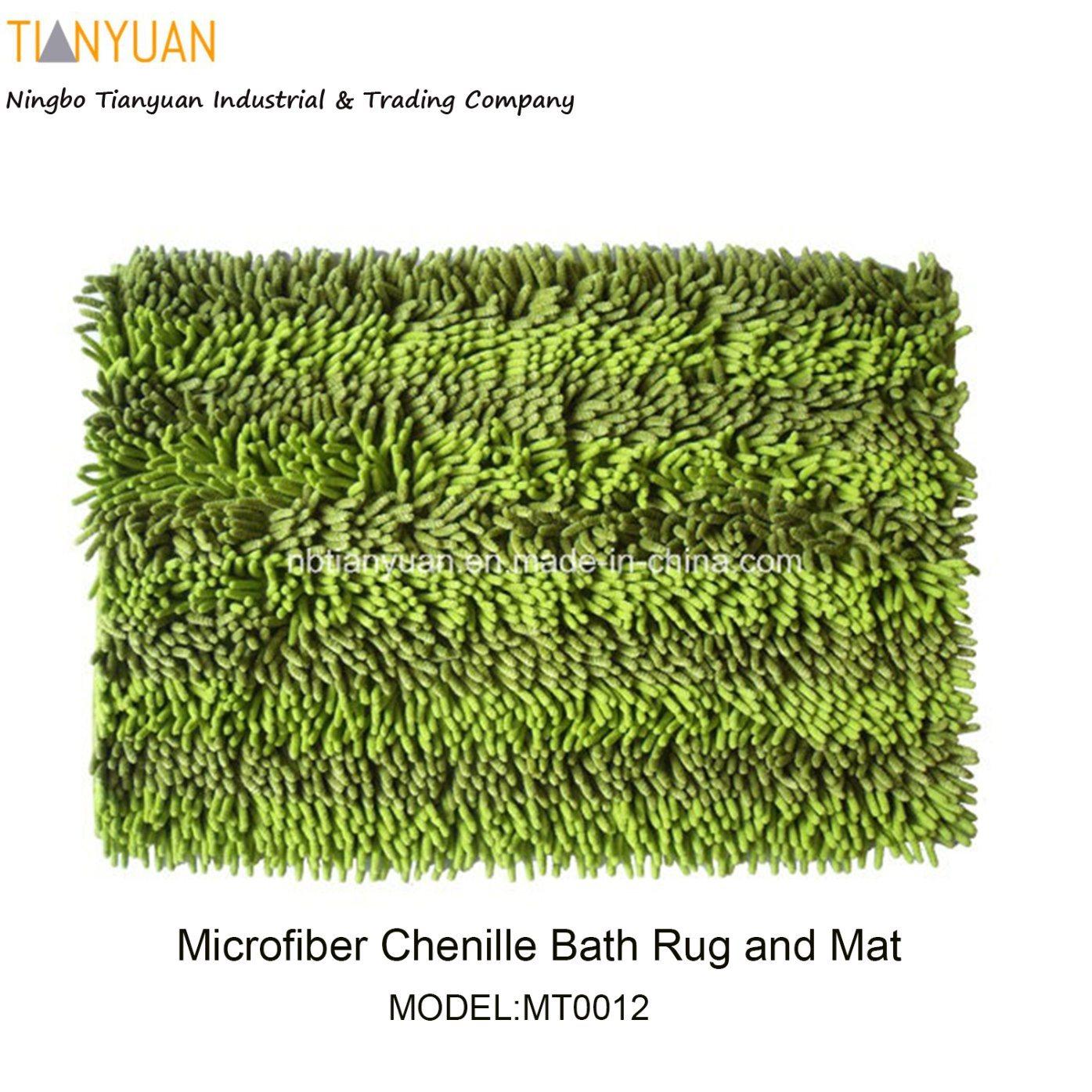 Floor Mat Microfiber Door Mat Microfiber Chenille Bath Rug and Mat