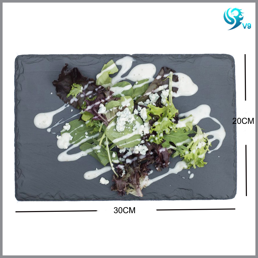 Pure Natural Material Black High Quality Slate Placemat