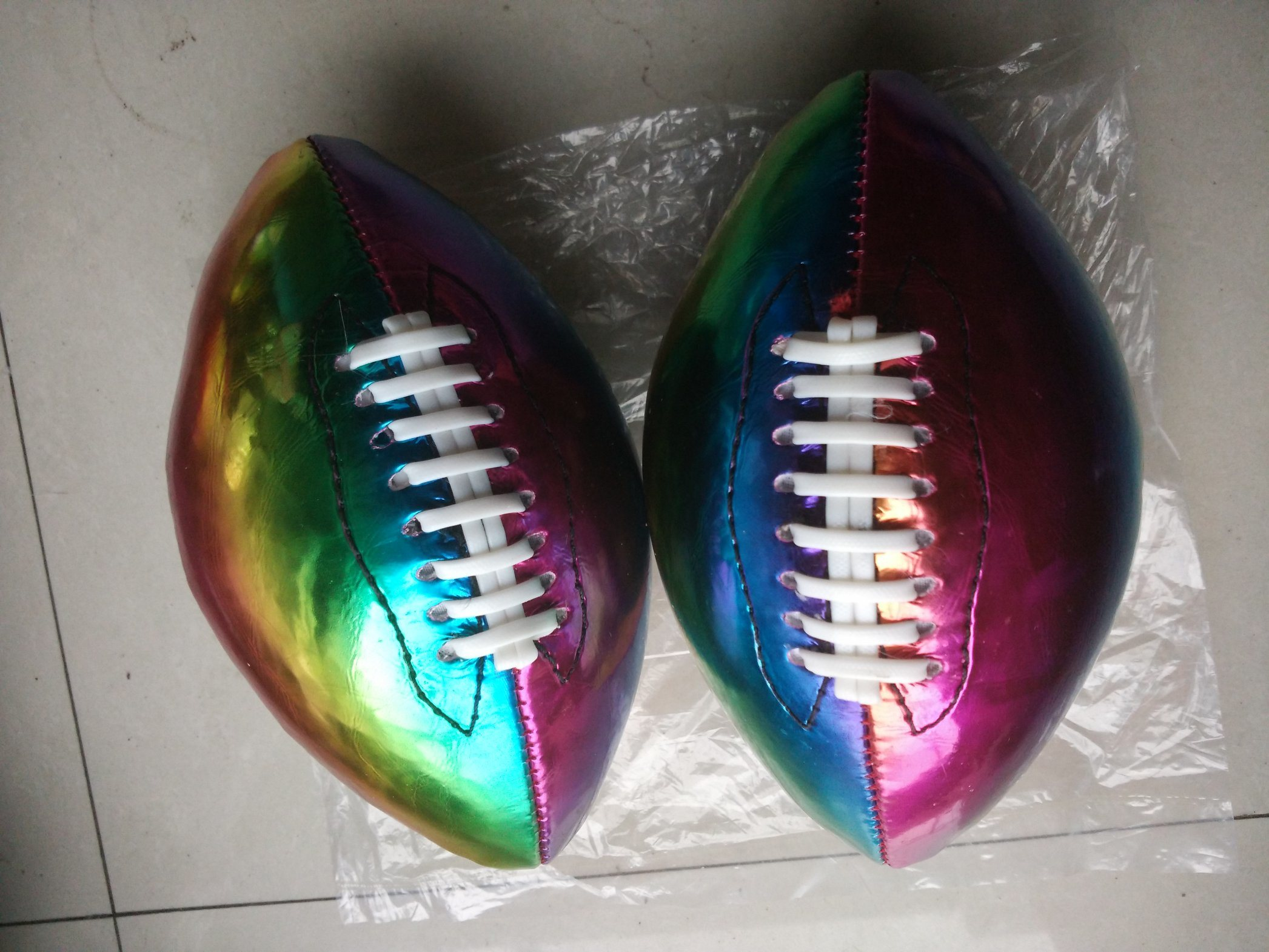 1# PVC Machine Stitching Color American Football