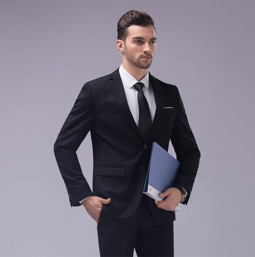 Italian Blue Black Best Business Men Suits for Groom