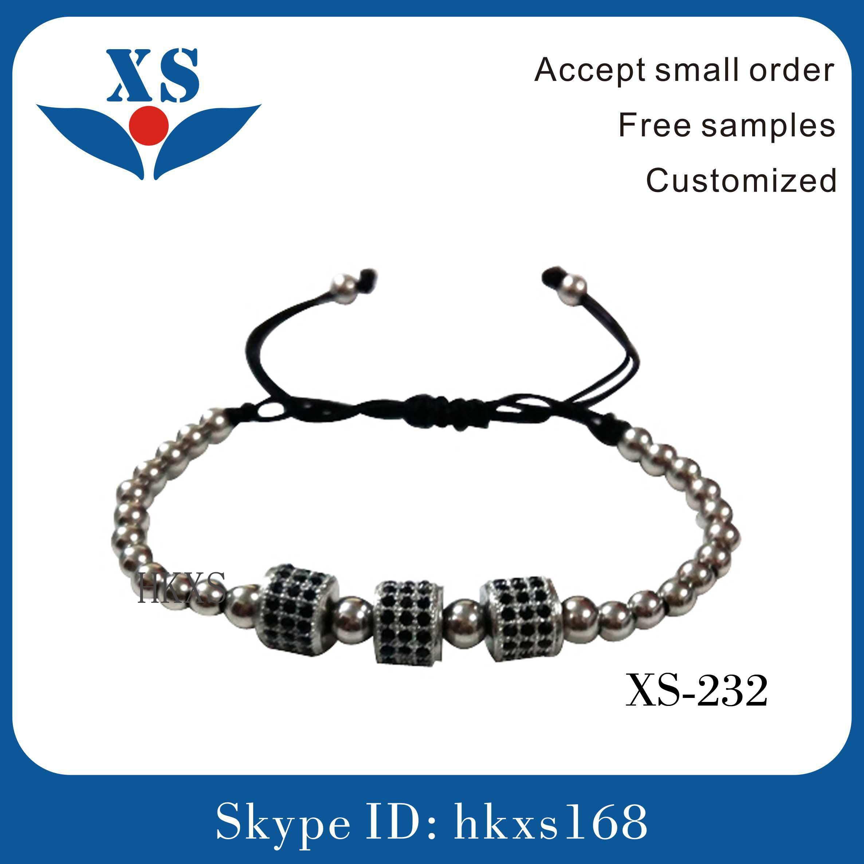 Gold Steel Beads Bracelets for Man