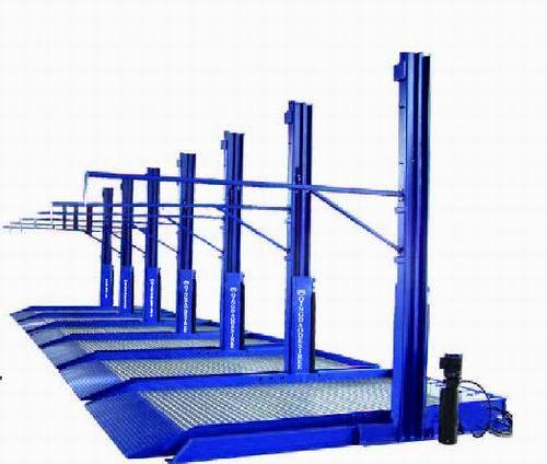 Shared Column Hydraulic Parking System with Ce