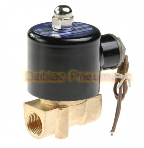 """Water Air Gas Fuel Nc Solenoid Valve 3/8"""" BSPP 24V DC 2W040-10"""