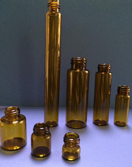 1ml-50ml Screwed Amber Tubular Glass Vial for Pharma and Cosmetic Packing
