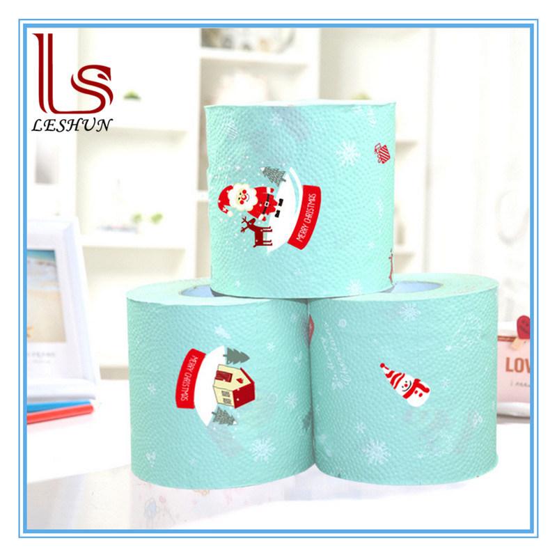 Wholesale Christmas Creative Arts Printing Household Paper, Toilet Paper Tissue Napkin