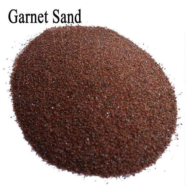 80 Sand Blasting Abrasive Garnet / 80 Mesh Water Jet Cutting Garnet