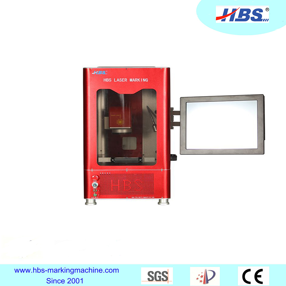 20W Fiber Laser Marking Machine with Fullly Enclosed Cabint