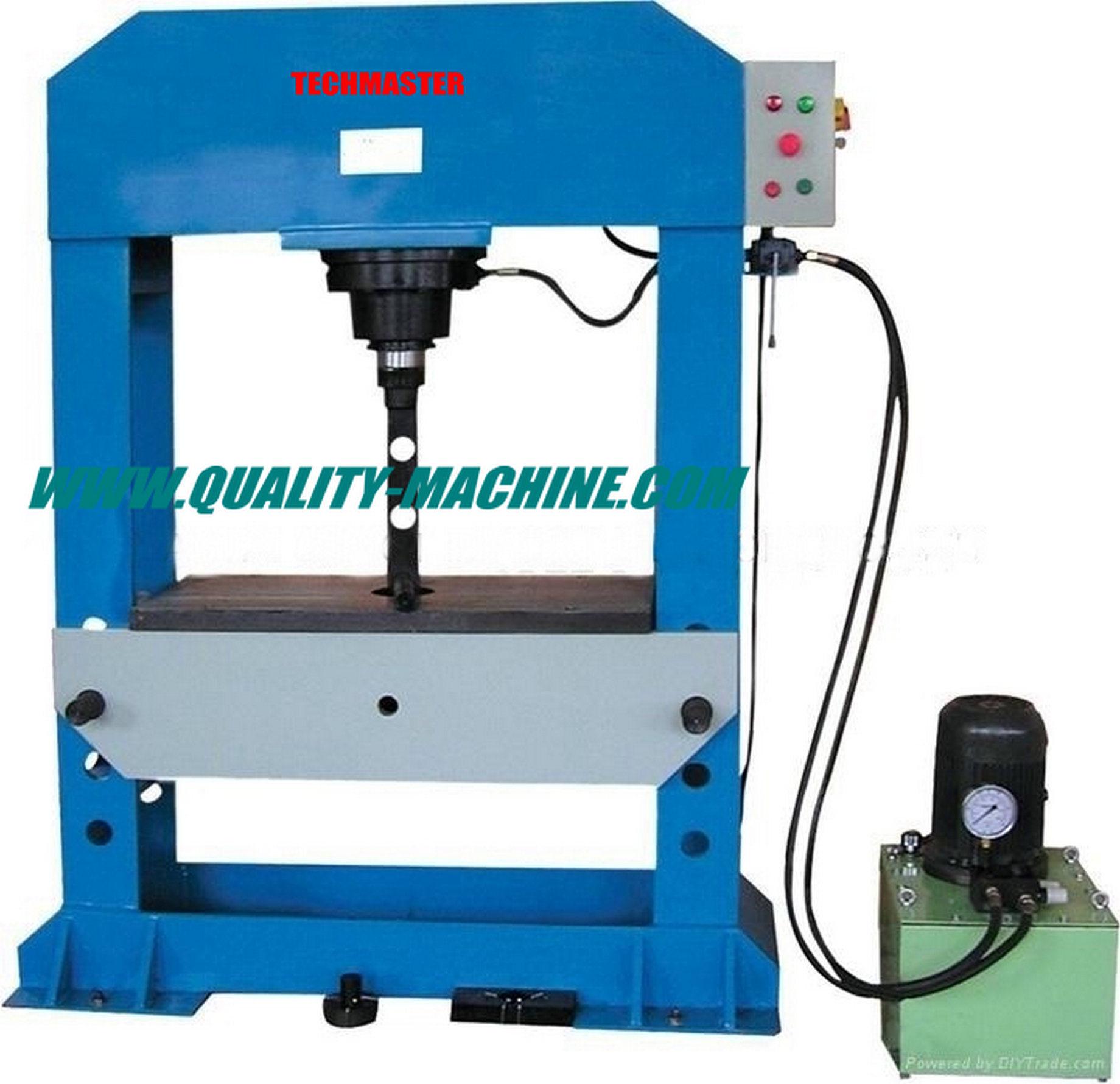 Macchina della pressa idraulica dell 39 officina ttmc hp 100 for Pressa idraulica per officina