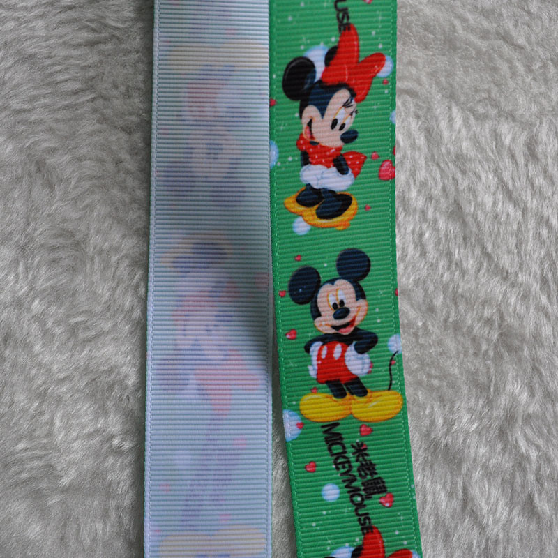 Colorful Gift Ribbon with Printed Grosgrain Ribbon