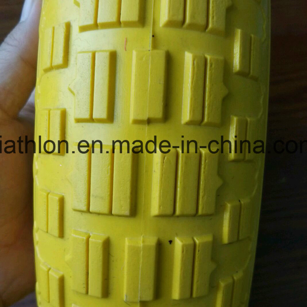 16X4.00-8 Wheelbarrow PU Foam Tires with Five Star Wheel