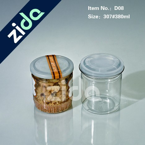 Empty Plastic Jar for Cosmetic Plastic Container with Lid