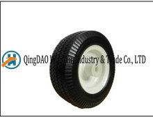 Solid PU Caster Complete Wheel with Plastic Rim (8*3)