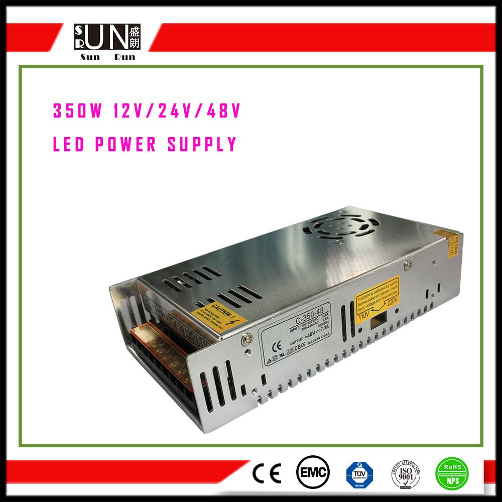350W LED Strips, LED Street Light Power Supply, 48V 24V 12V 5V Security and Protection Power Supply, Lighting Power 350W, CV12V CV24V LED Driver