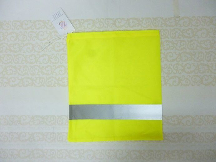Saety High Visibility Bag with Reflective Tape and Drawstring