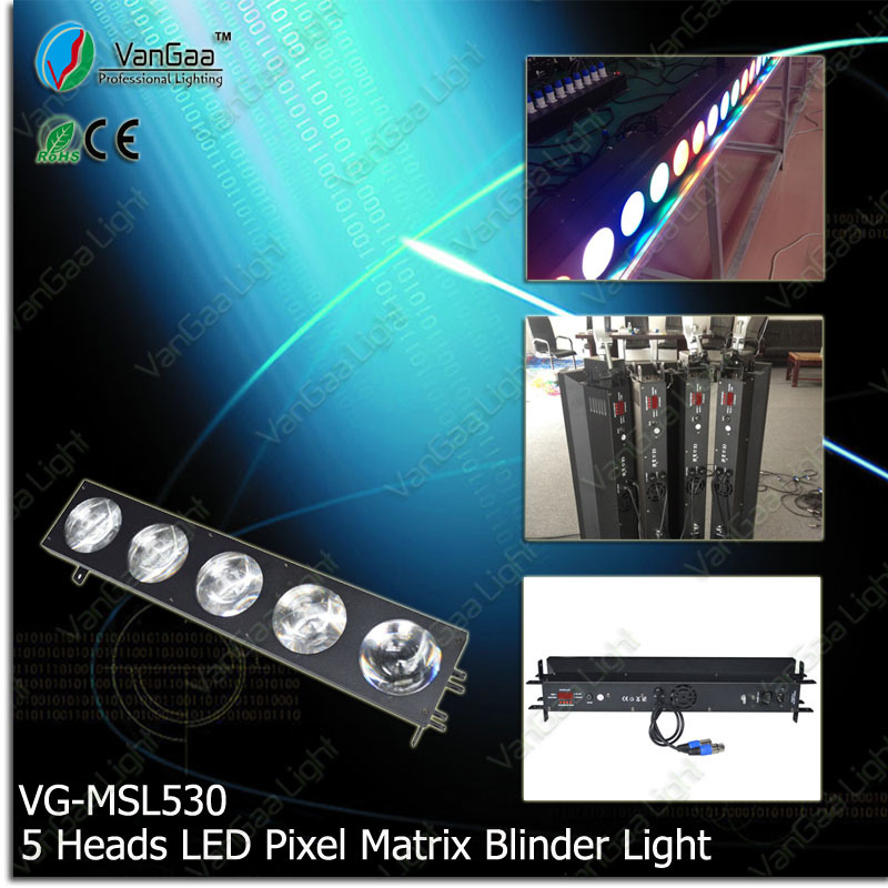 DMX 5 Heads 30W COB RGB 3in1 LED Matrix Blinder Light (VG-MSL530)