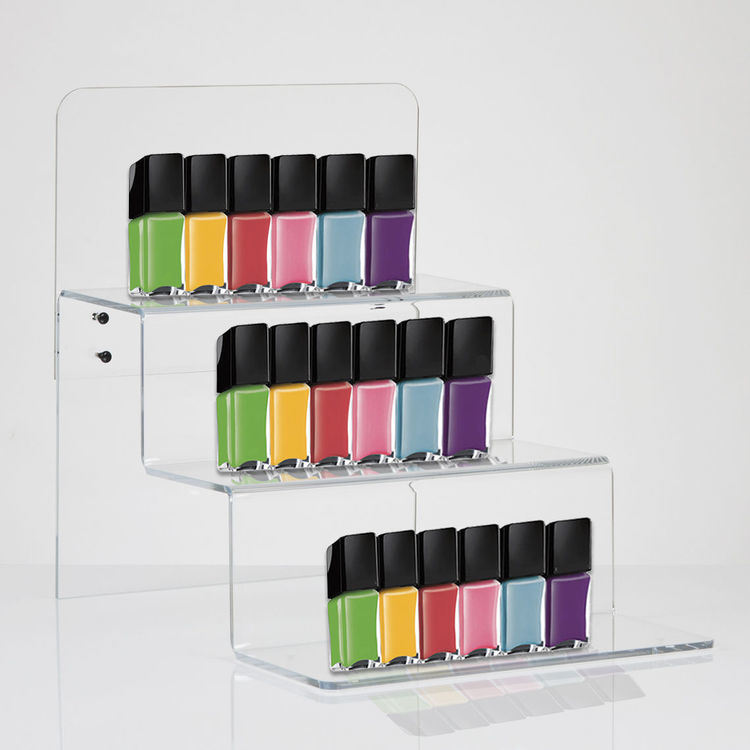 Clear Acrylic Self for Stepped Retail Display