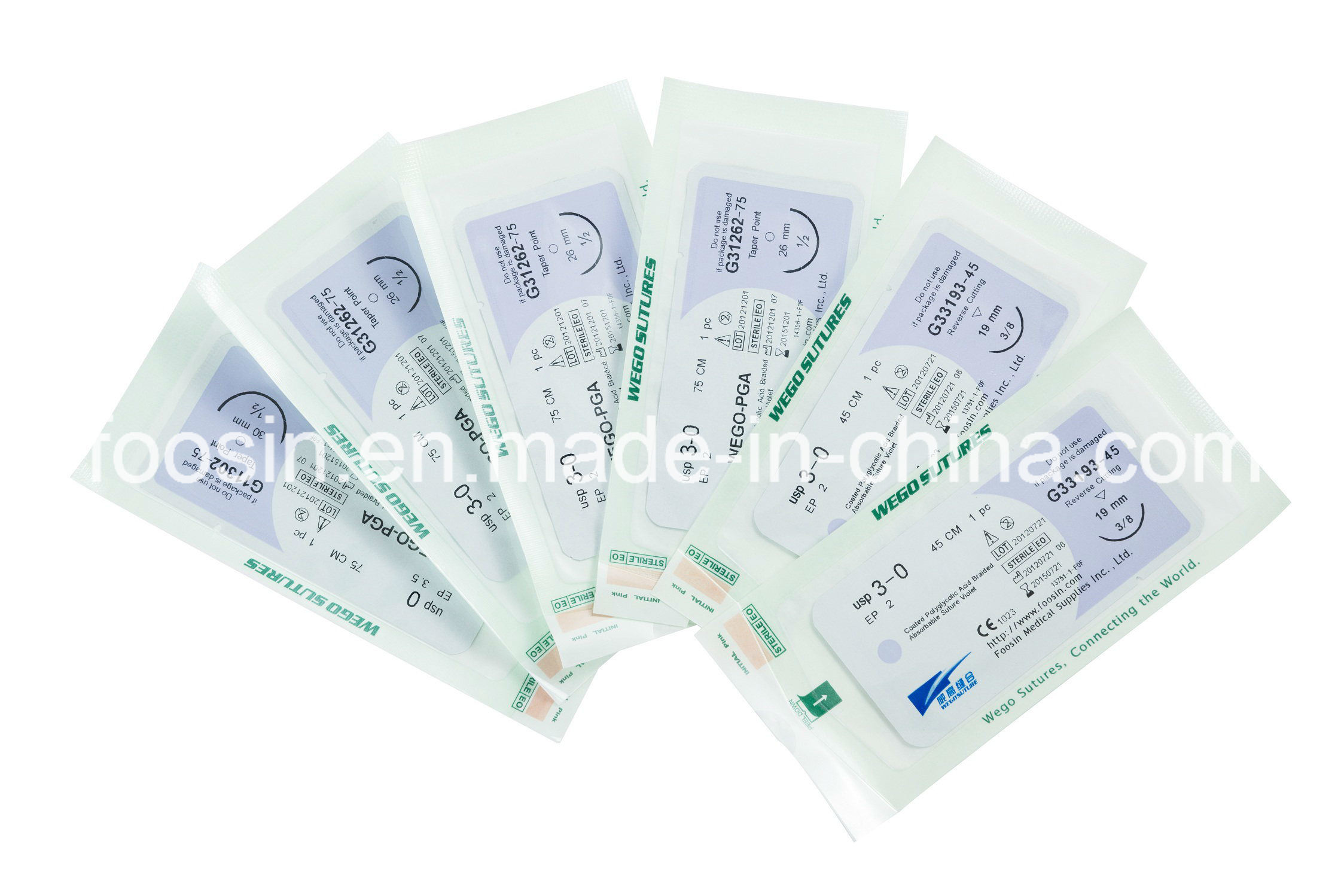 Sterile Surgical Sutures PGA Braided