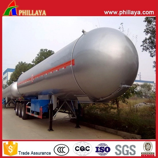 25tons Propane Liquid Gas Transportation Steel Tank LPG Tanker Trailer