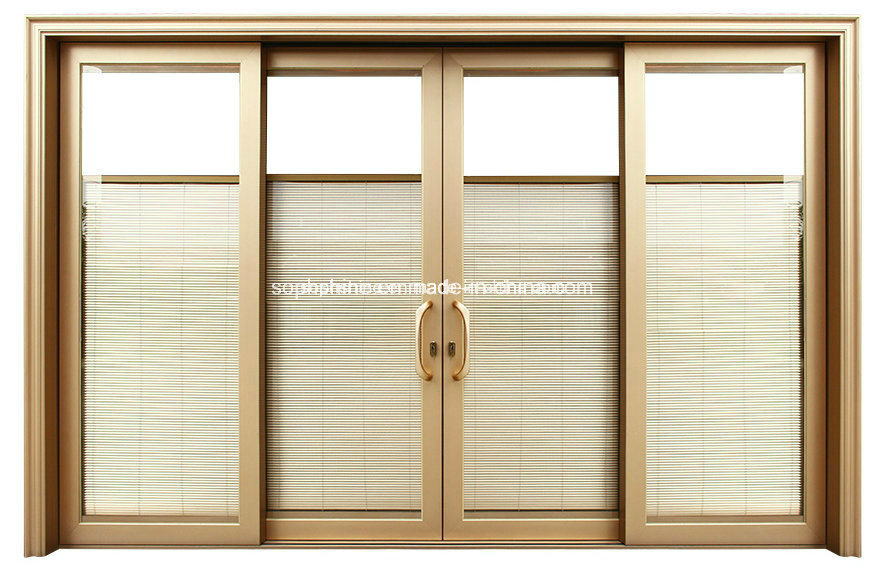 Window Curtain Shutter Motorized Between Double Hollow Tempered Glass