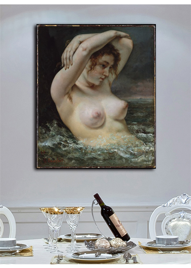 Wholesale High Quality Decoration Oil Painting, Home Decoration Painting, Art Painting (THe woman in the waves)