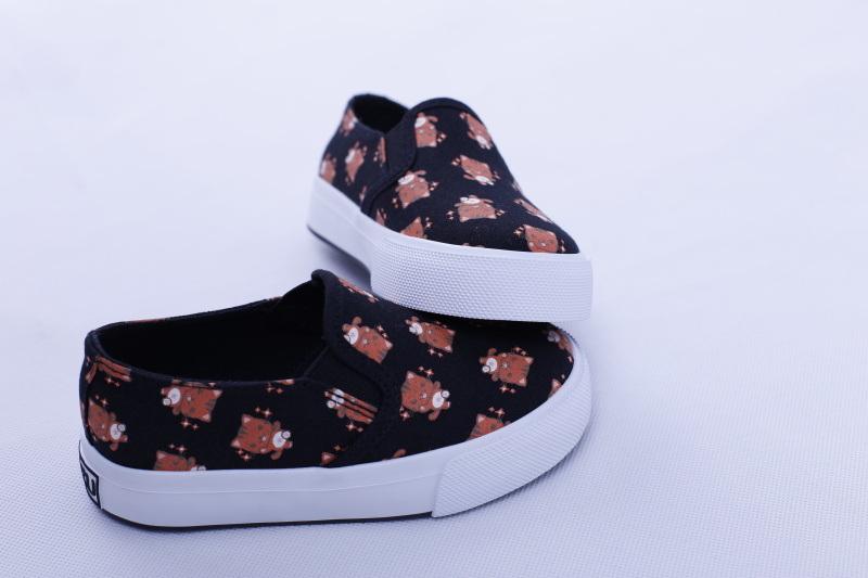 Vulcanized Shoes Rubber out Sole Canvas Kids Shoes