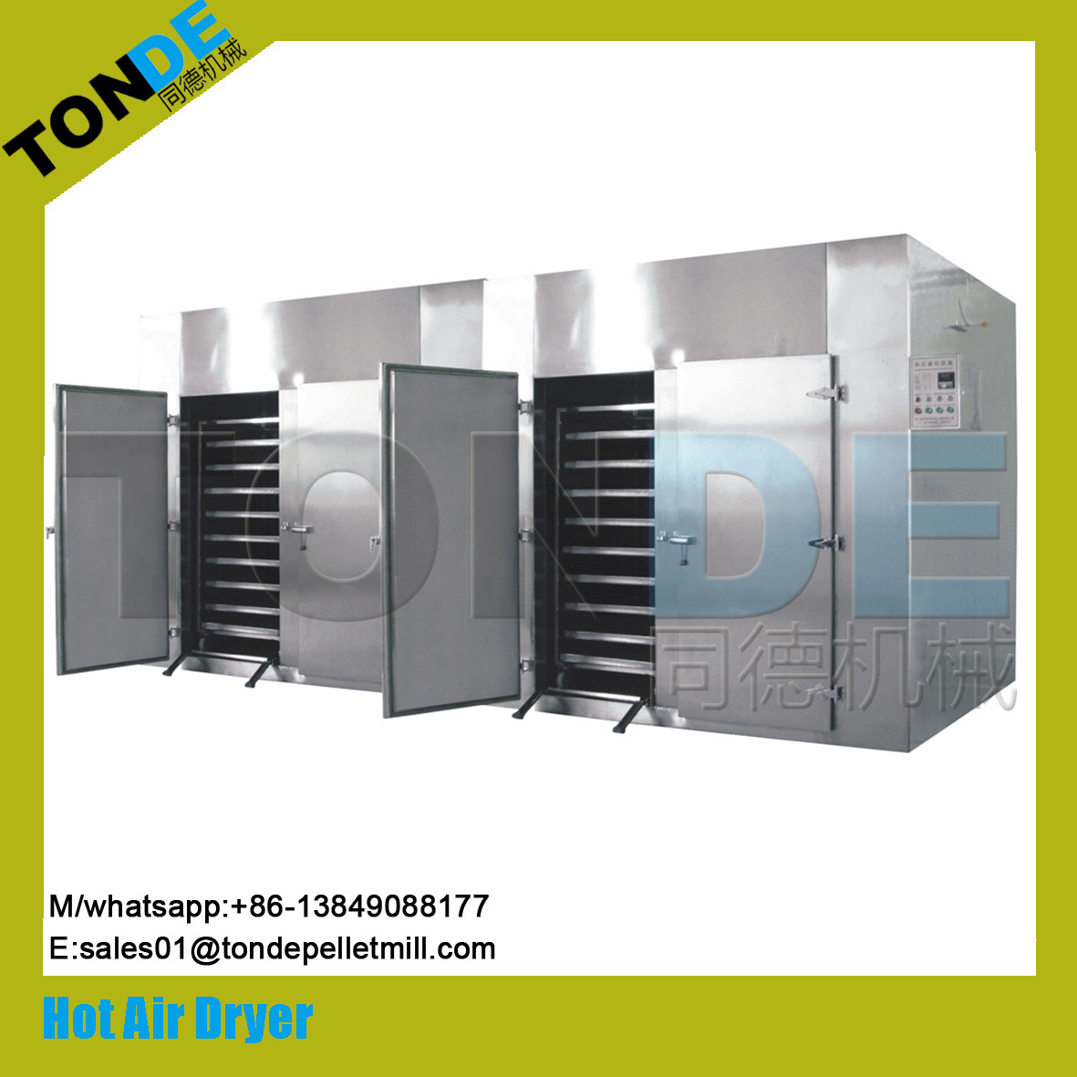 Industrial Stainless Steel Circulation Tea Herb Dryer Machine