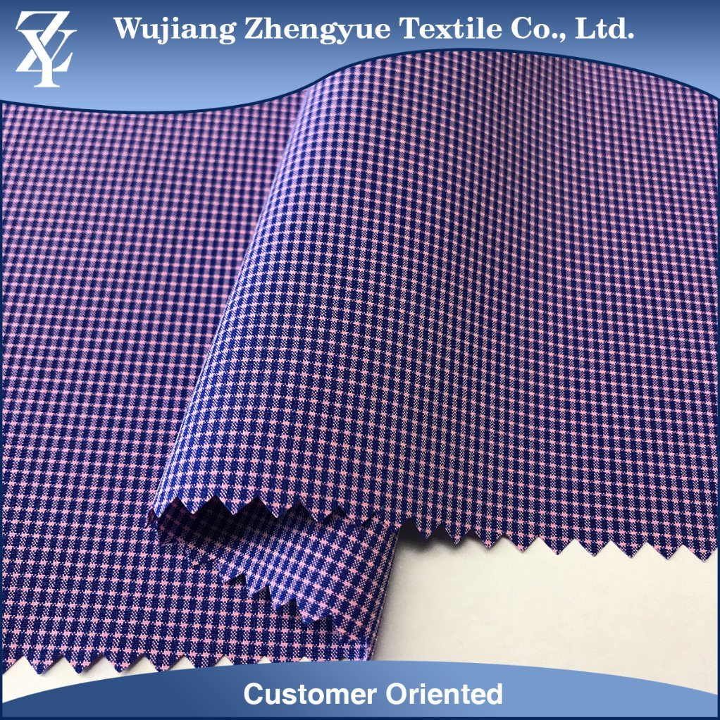 Polyester Nylon Spandex Checkered Plaid 4 Way Stretch Garment Fabric