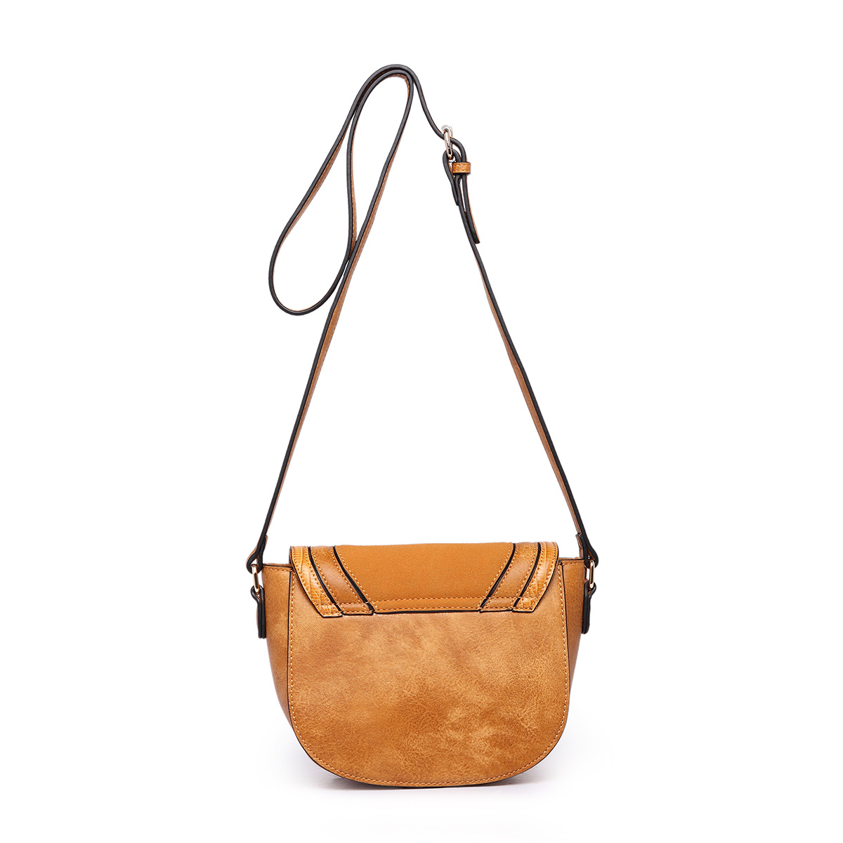 Saddle PU Leather Flip Single Shoulder Bag