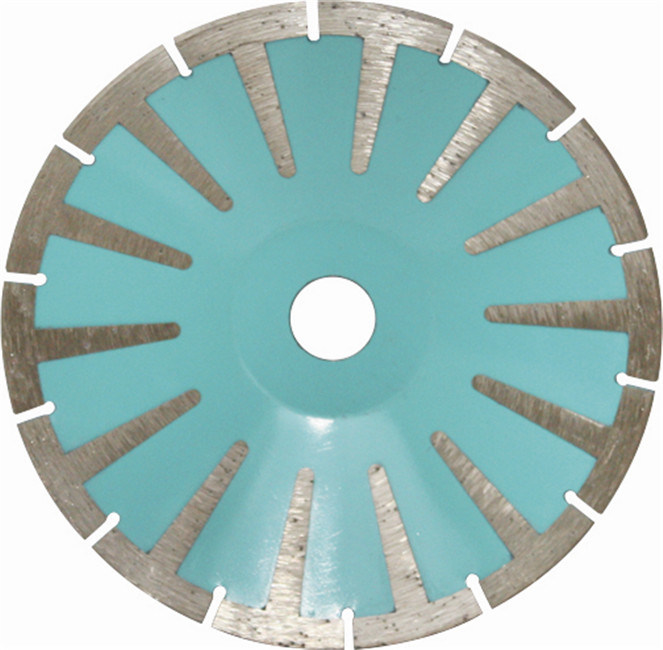 Turbo Diamond Blade with Protective Teeth for Grantie
