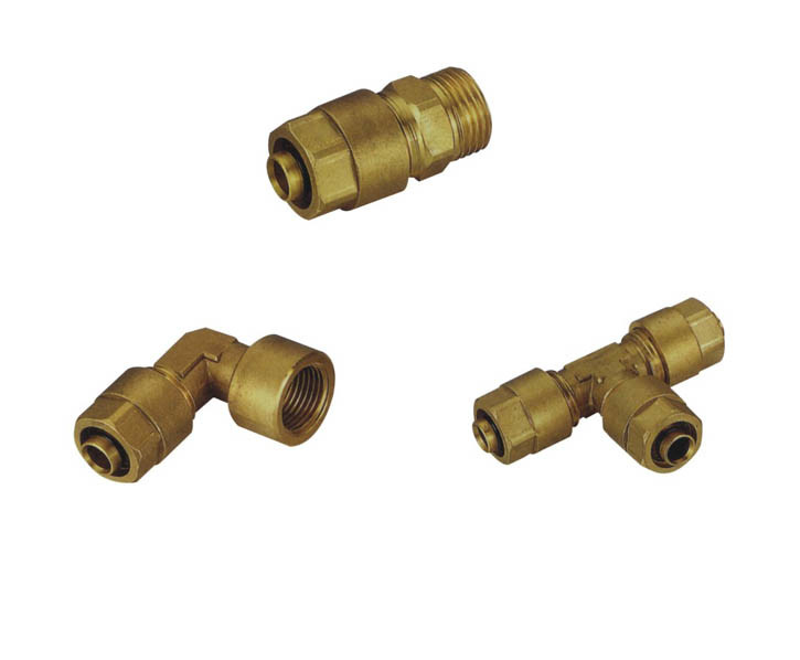 China screw fitting for multilayer pipe