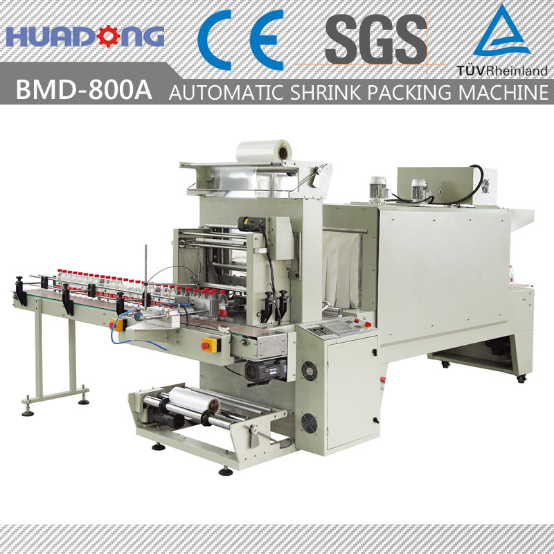 Automatic Beer Bottles Sleeve Sealing & Shrink Packing Machine