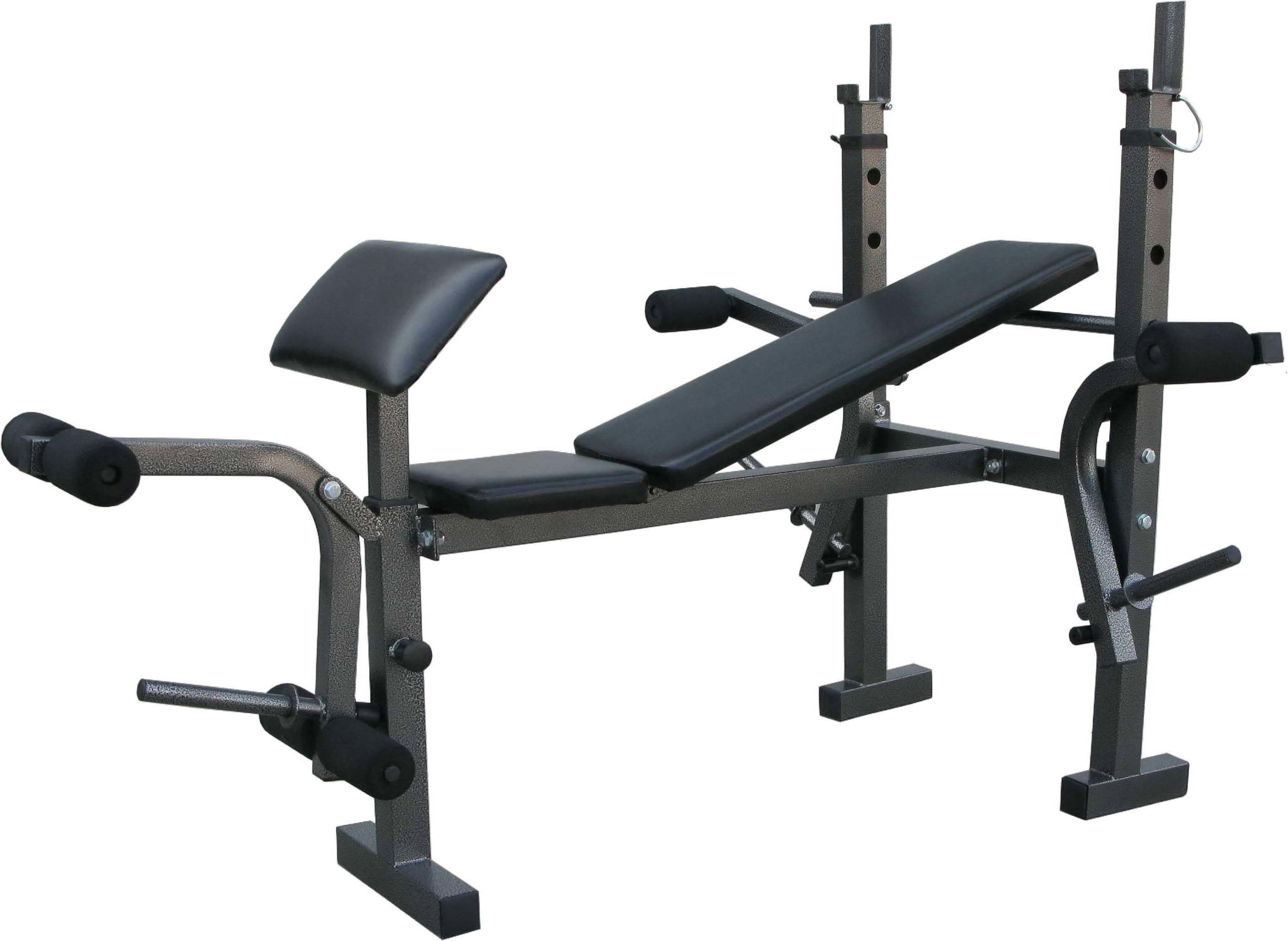 Exercise fitness weight bench Weight bench and weights
