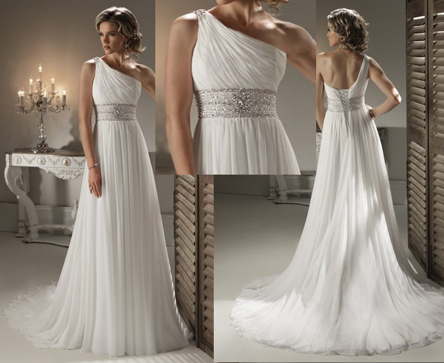 Fashion Trends One Shoulder Wedding Dress