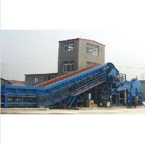 Hydraulic Scrap Shredding Line Recycling Machine