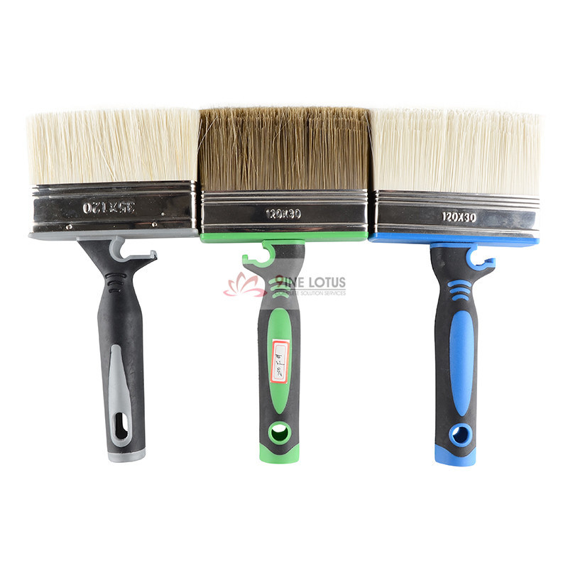Double Color Rubber Handle with Pet High Quality Paint Brush Wall Brush