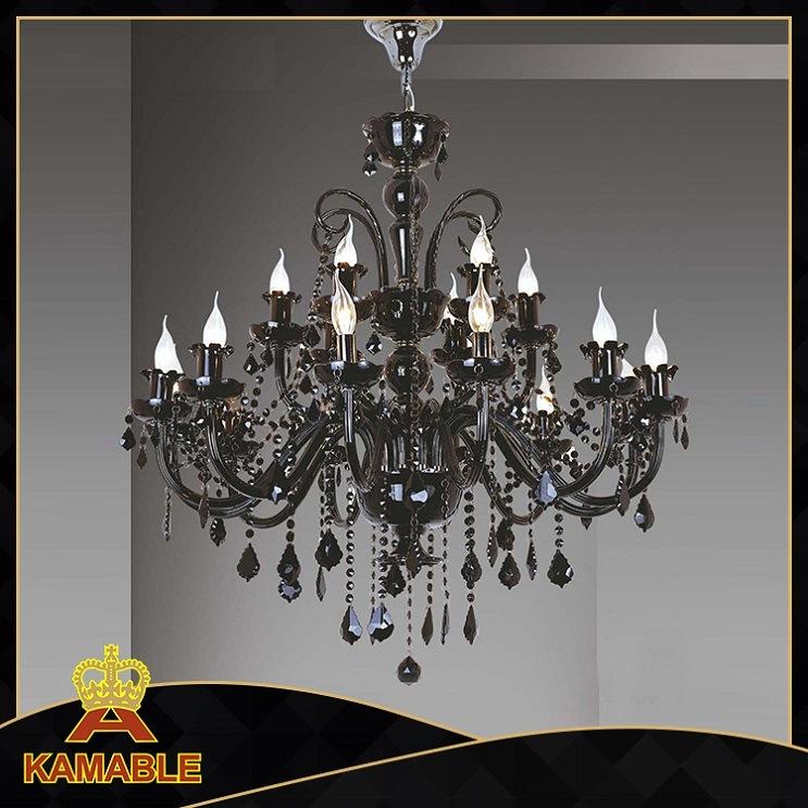 Hotel Decorative Black Crystal Chandelier (KA60100/12+6)