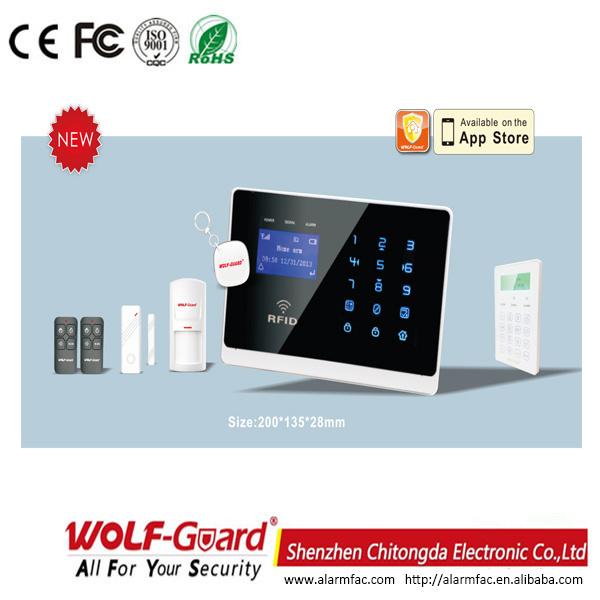 Wolf-Guard Smart Wireless GSM Home Safe Burglar Security Alarm with Smoke Detecor