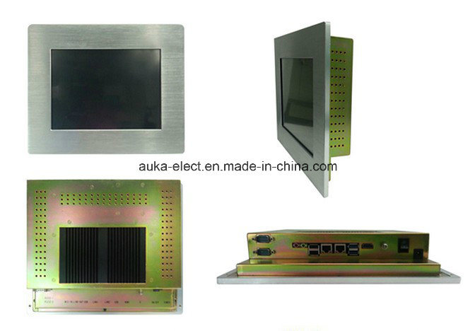 "10.4"" Fanless Industrial Panel PC Computer with Touchscreen Alumimun Bezel"