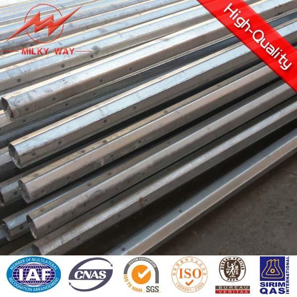Galvanized Steel Tubular Pole for Overhead Line Project