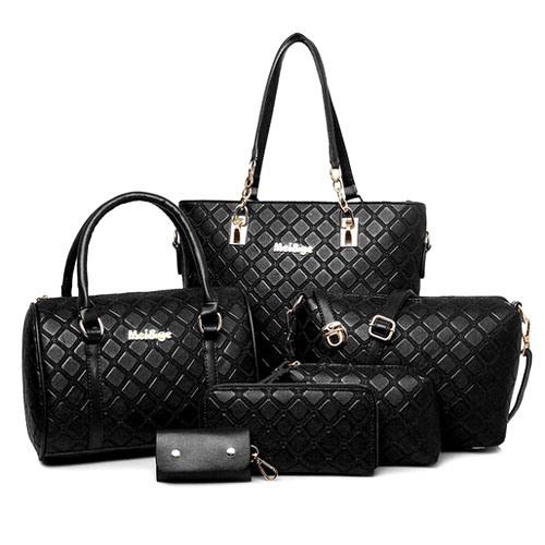 fashion Bag Lingge Style 6PCS Set Bag Designer Handbag (XM0215)