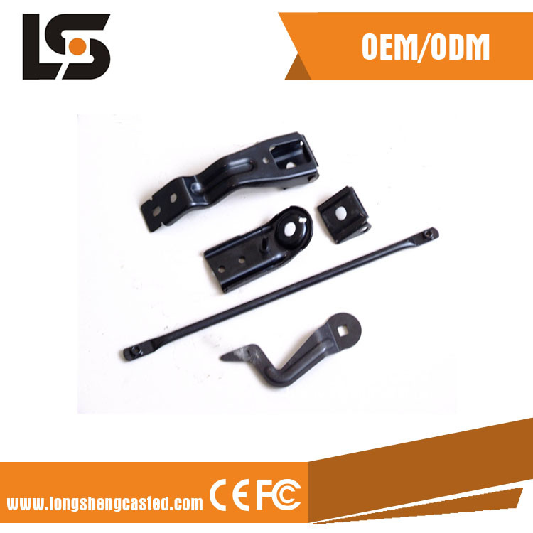 Custom Auto Motor Black Carbon Holder Precision Metal Stamping Parts