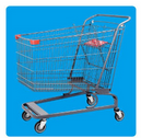 Shopping Trolley Manufacture Metal and Zinc/Galvanized/ Chrome Surface 08018