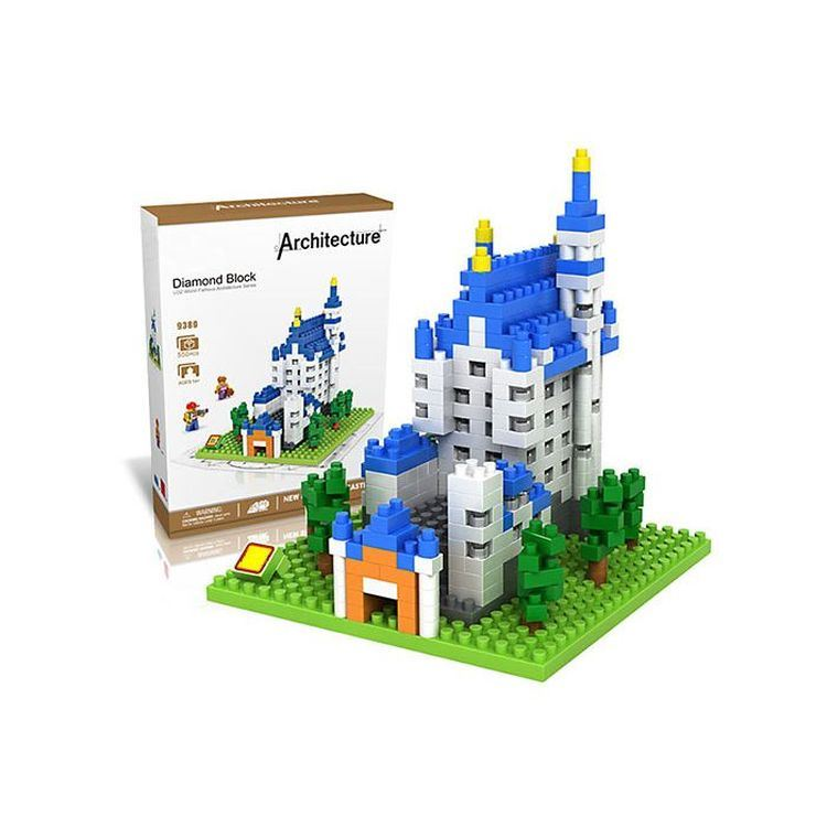 6739380-New Swan Stone Castle Diamond Building Block Educational Toy