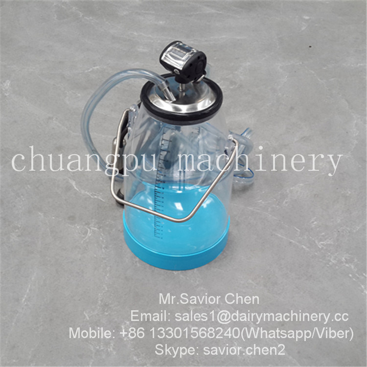 Plastic 25L Capacity Milking Bucket Group for Milking Machine Parts