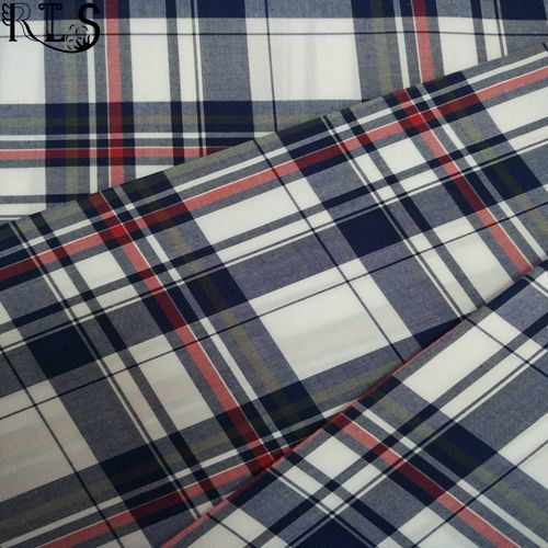 100% Cotton Poplin Woven Yarn Dyed Fabric for Shirts/Dress Rls60-7po
