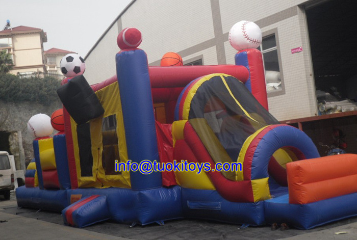 Inflatable Bouncy Jumping Castle with Slide Carnival Game (B094)