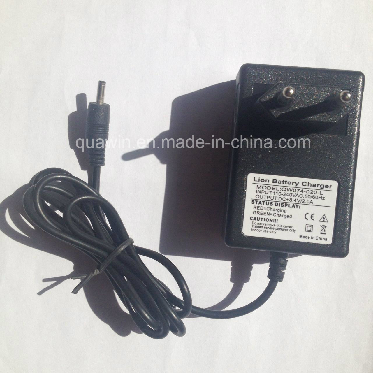 8.4V 2A Lithium Battery Charger with DC Male Connector