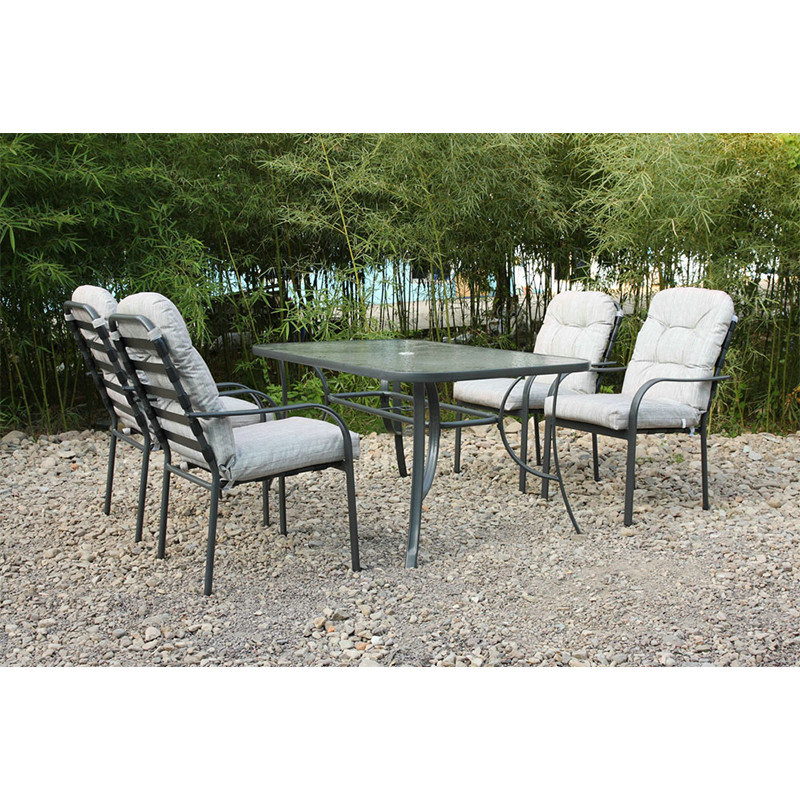 Lounge Dining Table and 8 Chairs Garden Outdoor Furniture (FS-4020+4207)
