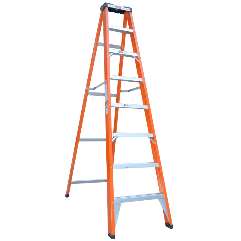 High Quality Double Side Fiberglass Folding Step Ladder