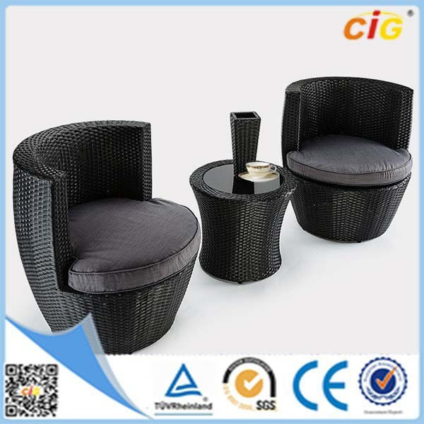 New Design 3PCS Outdoor Rattan Egg Garden Furniture